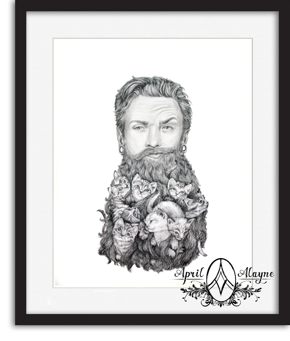 Kitten Beard 8.5 x 11in Fine Art Print – Always april